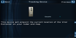SFTOS Tracking Device Screen