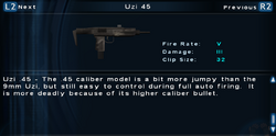 SFTOS Uzi 45 Screen