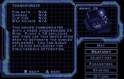 SF3 Transponder Screen