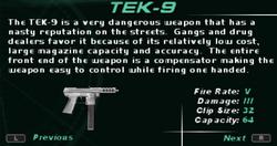 SFDM TEK-9 Screen