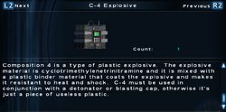 SFTOS C-4 Explosive Screen