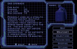 SF2 Gas Grenade Screen
