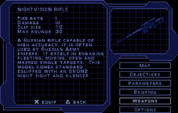 SF1 Nightvision Rifle Screen