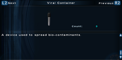 SFTOS Viral Container (ALA) Screen