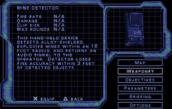 SF3 Mine Detector Screen