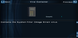 SFTOS Viral Container (SLORC) Screen
