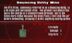 SFCO Bouncing Betty Mine Screen