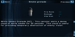 SFTOS Smoke grenade Screen