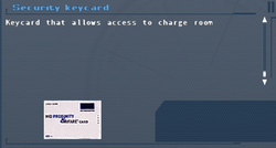 SFLS Security Keycard (Charge Room) Screen