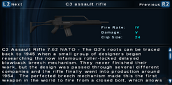 SFTOS C3 assault rifle Screen