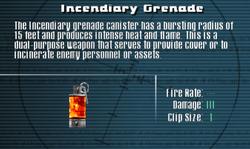 SFLS Incendiary Grenade Screen