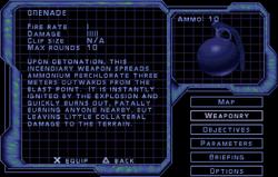 SF3 Grenade Screen