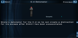SFTOS C-4 Detonator (Alternate) Screen