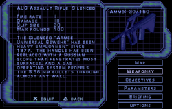 SF3 AUG Assault Rifle, Silenced Screen