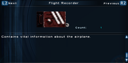 SFTOS Flight Recorder Screen