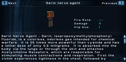 SFTOS Sarin nerve agent Screen