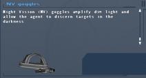 SFLS NV goggles Screen