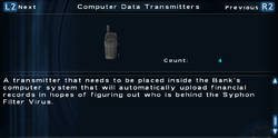 SFTOS Computer Data Transmitters Screen