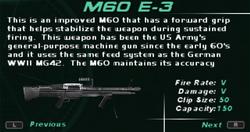SFDM M60 E-3 Screen