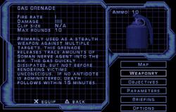 SF3 Gas Grenade Screen