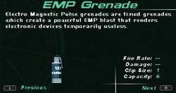 SFDM EMP Grenade Screen