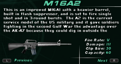 SFDM M16A2 Screen