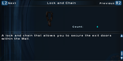 SFTOS Lock and Chain Screen
