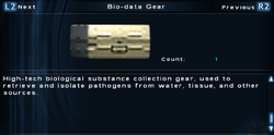 SFTOS Bio-data Gear Screen