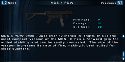 SFTOS MDS-k PDW Screen