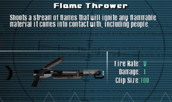 SFLS Flame Thrower Screen