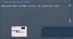SFLS Security Keycard (Lift) Screen