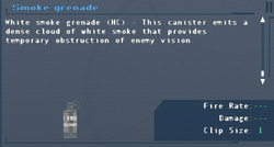 SFLS Smoke Grenade Screen