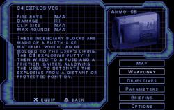 SF3 C4 Explosives Screen