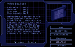 SF1 Virus Scanner Screen