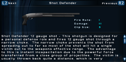 SFTOS Shot Defender Screen