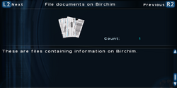 SFTOS File documents on Birchim Screen