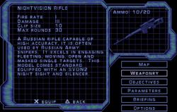 SF3 Nightvision Rifle Screen