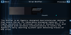 SFTOS Viral Sniffer Screen