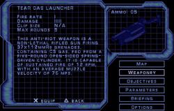 SF3 Tear Gas Launcher Screen