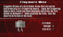 SFCO Claymore Mine Screen