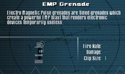 SFLS EMP Grenade Screen