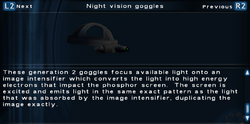 SFTOS Night vision goggles Screen