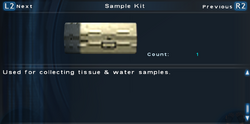 SFTOS Sample Kit Screen