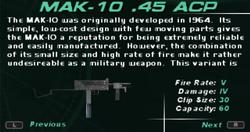 SFDM MAK-10 .45 ACP Screen