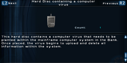 SFTOS Hard Disc containing a computer virus Screen