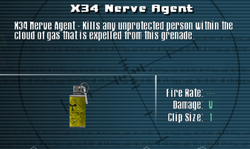 SFLS X34 Nerve Agent Screen