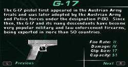 SFDM G-17 Screen