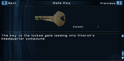 SFTOS Gate Key Screen
