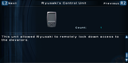 SFTOS Ryusaki's Control Unit Screen
