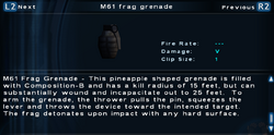 SFTOS M61 frag grenade Screen